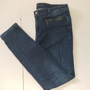 MK Michael Kors Skinny Jeans Zipper Pockets Sz 8